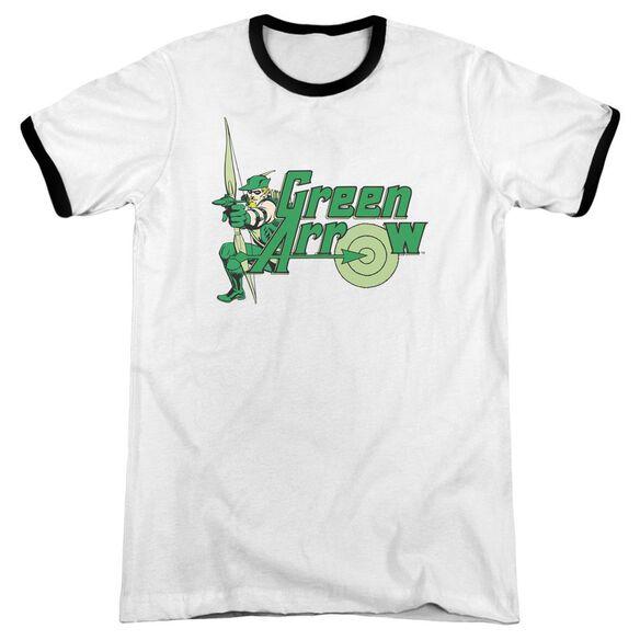Dc Green Arrow Adult Ringer White Black