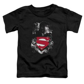 Superman Darkest Hour Short Sleeve Toddler Tee Black Sm T-Shirt
