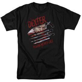 Dexter Blood Never Lies Short Sleeve Adult T-Shirt