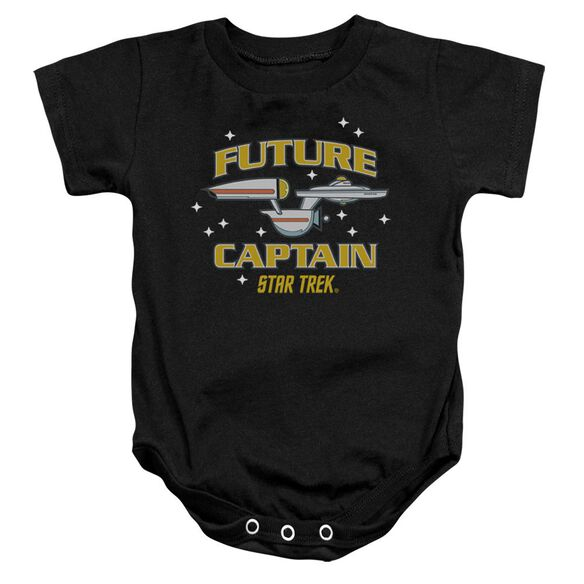 Star Trek Future Captain Infant Snapsuit Black Lg