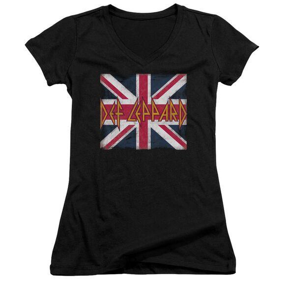 Def Leppard Union Jack Junior V Neck T-Shirt