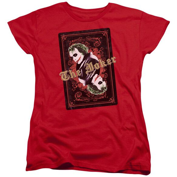 Dark Knight Jokers Wild Short Sleeve Womens Tee T-Shirt
