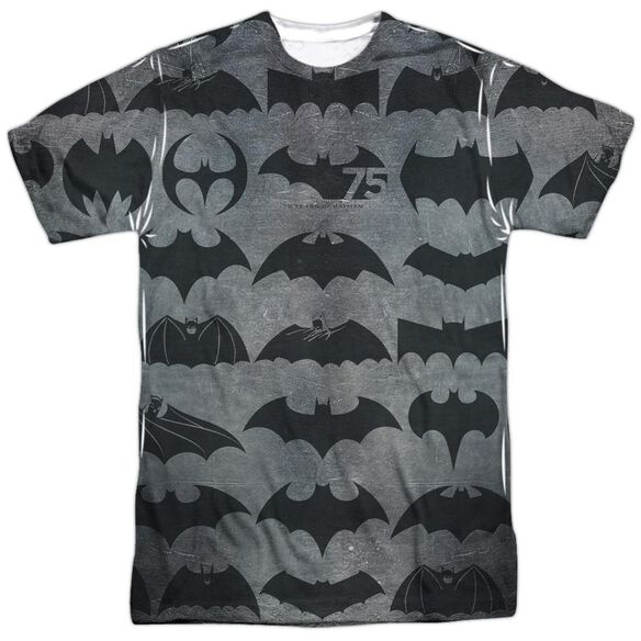 Batman 75 Symbols Short Sleeve Adult Poly Crew T-Shirt