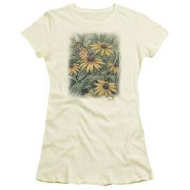 Wildlife Monarch Butterfly Short Sleeve Junior Sheer T-Shirt