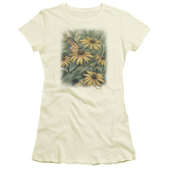 Wildlife Monarch Butterfly Short Sleeve Junior Sheer T-Shirt