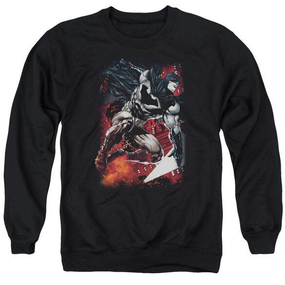 Batman Sparks Leap Adult Crewneck Sweatshirt
