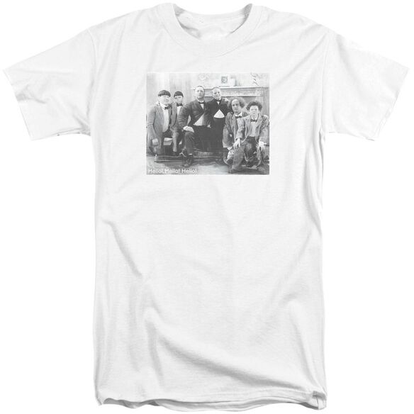 Three Stooges Hello Short Sleeve Adult Tall T-Shirt