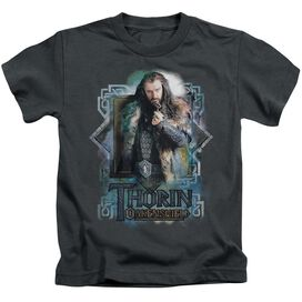 The Hobbit Thorin Oakenshield Short Sleeve Juvenile Charcoal T-Shirt
