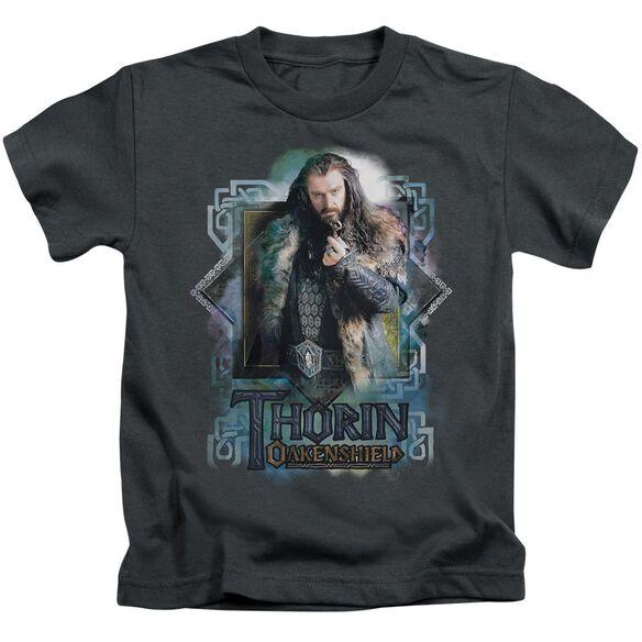 The Hobbit Thorin Oakenshield Short Sleeve Juvenile Charcoal T-Shirt