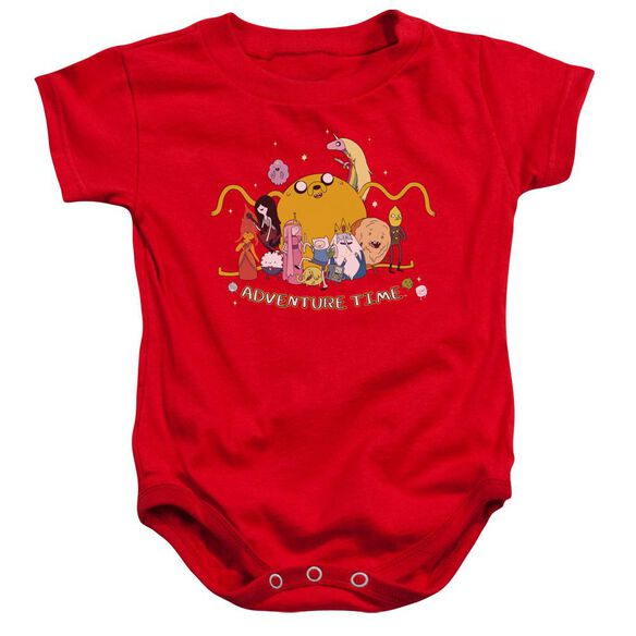 Adventure Time Outstretched Infant Snapsuit Red