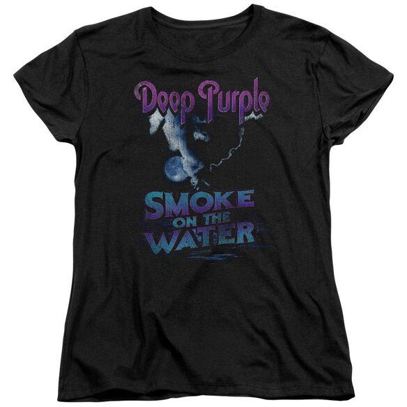 Deep Purple Smokey Water Short Sleeve Womens Tee T-Shirt