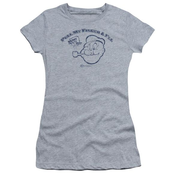 Popeye Toot! Toot! Short Sleeve Junior Sheer Athletic T-Shirt