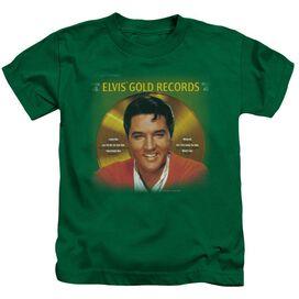 ELVIS PRESLEY GOLD RECORDS - S/S JUVENILE 18/1 - KELLY GREEN - T-Shirt