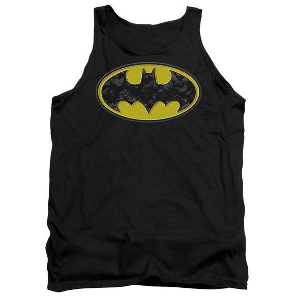 Batman Bats In Logo Adult Tank
