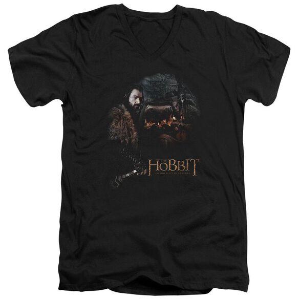 The Hobbit Cauldron Short Sleeve Adult V Neck T-Shirt