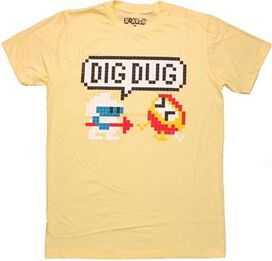 Dig Dug Speech Bubble T-Shirt Sheer
