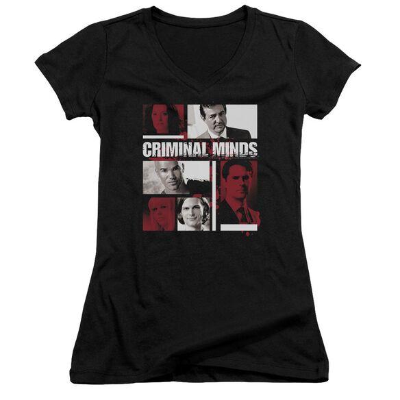 Criminal Minds Character Boxes Junior V Neck T-Shirt