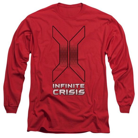 Infinite Crisis Title Long Sleeve Adult T-Shirt