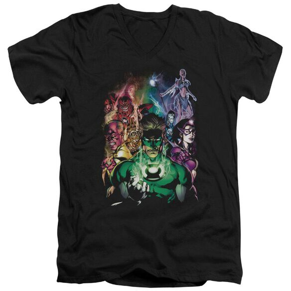 Green Lantern The New Guardians Short Sleeve Adult V Neck T-Shirt