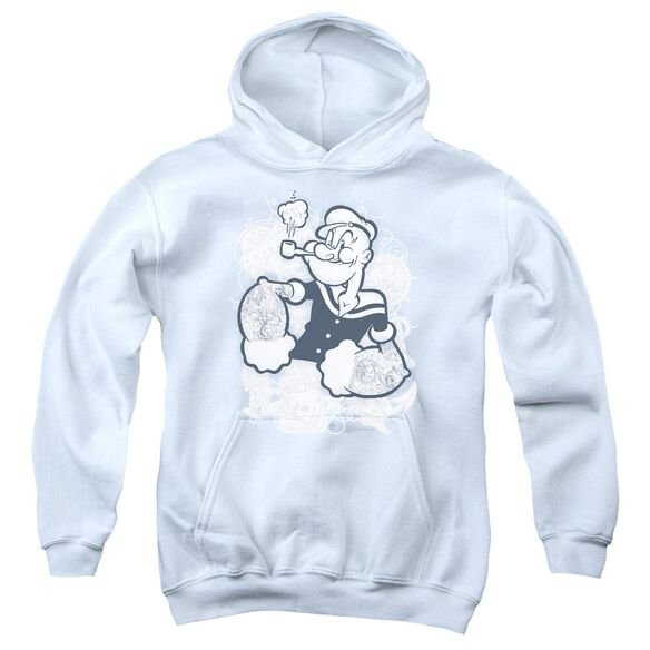 Popeye Tattooed Youth Pull Over Hoodie