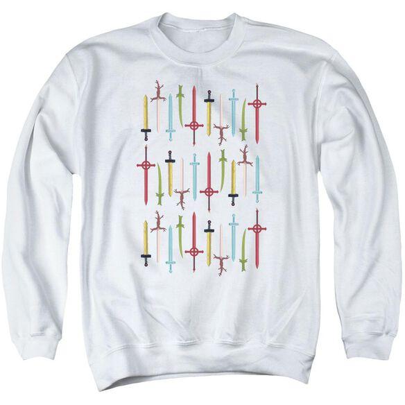 Adventure Time Swords Adult Crewneck Sweatshirt