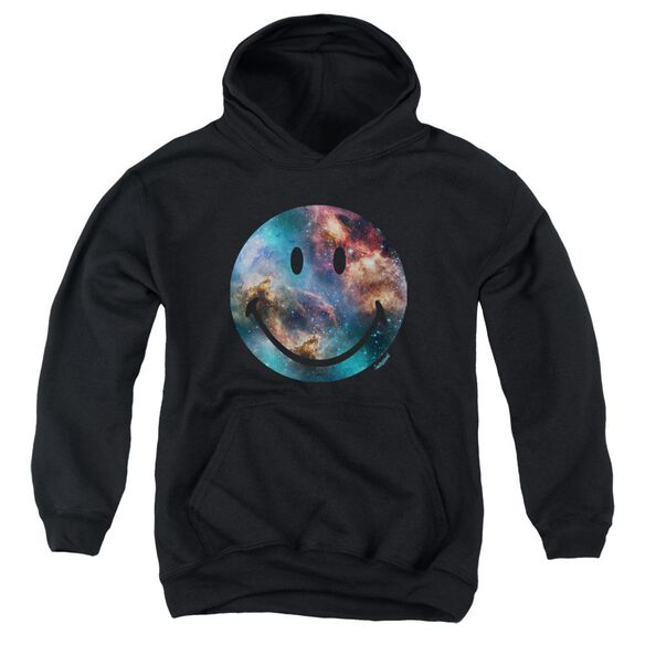 Smiley World Galaxy Face Youth Pull Over Hoodie