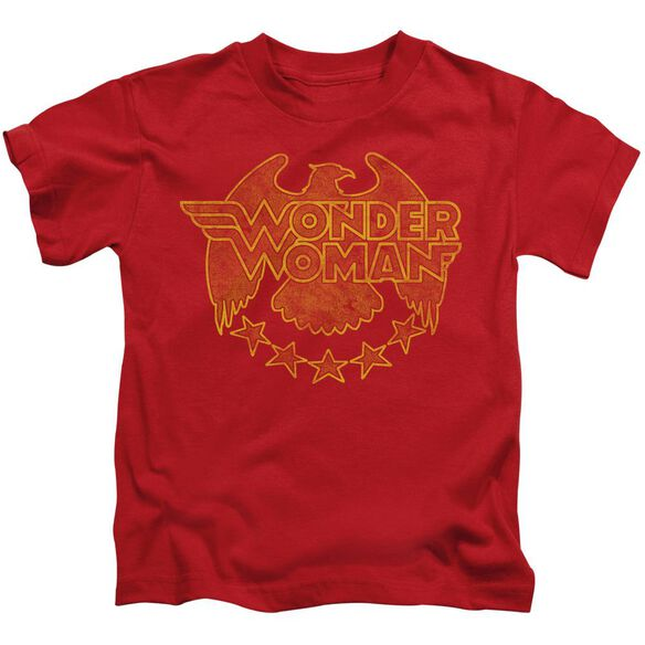 Dc Wonder Eagle Short Sleeve Juvenile Red T-Shirt