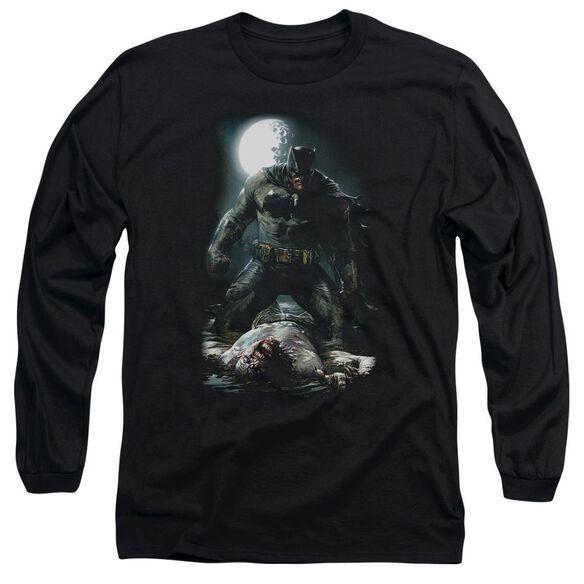 Batman Mudhole Long Sleeve Adult T-Shirt