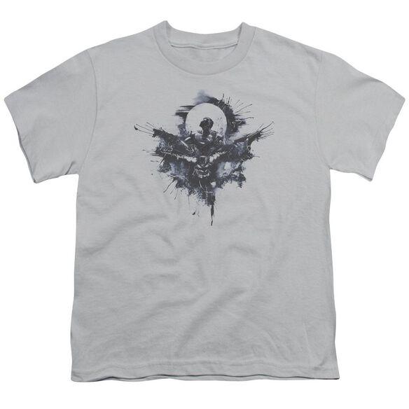 Batman V Superman Splatter Short Sleeve Youth T-Shirt