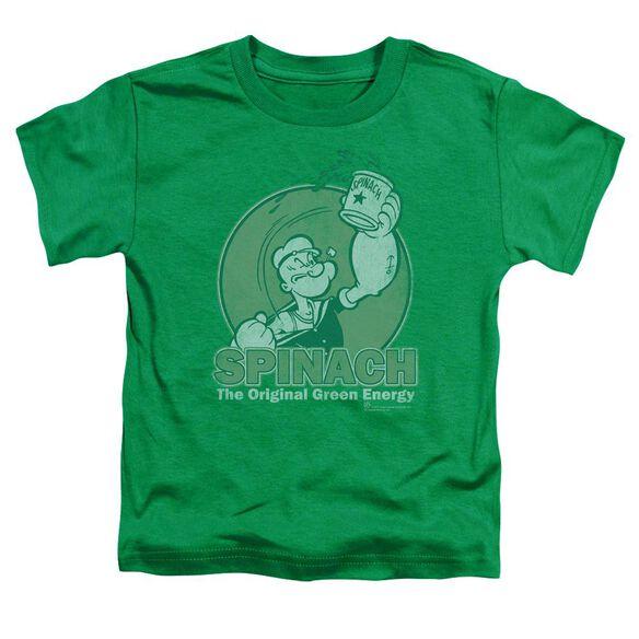 Popeye Green Energy Short Sleeve Toddler Tee Kelly Green Lg T-Shirt
