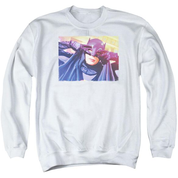Batman Classic TV Smooth Groove - Adult Crewneck Sweatshirt - White