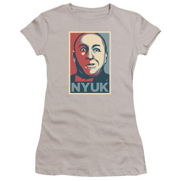 Three Stooges Nyuk Premium Bella Junior Sheer Jersey
