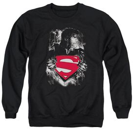 Superman Darkest Hour - Adult Crewneck Sweatshirt - Black
