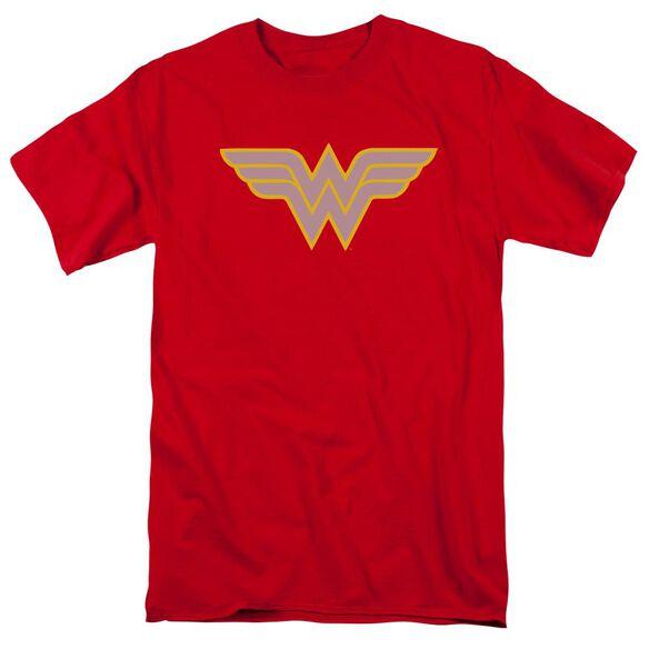 Dc Ww Logo Short Sleeve Adult Red T-Shirt