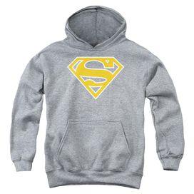 Superman Lt Orange & White Shield-youth Pull-over