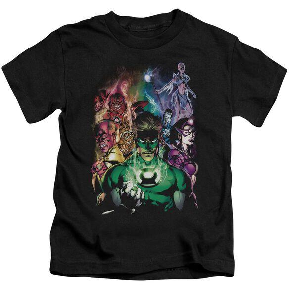Green Lantern The New Guardians Short Sleeve Juvenile Black T-Shirt