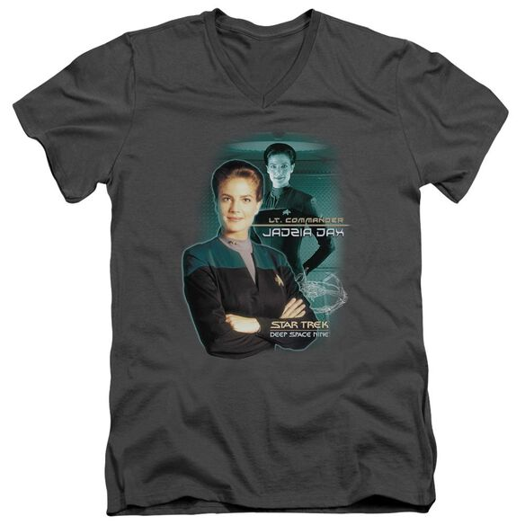 Star Trek Jadzia Dax Short Sleeve Adult V Neck T-Shirt