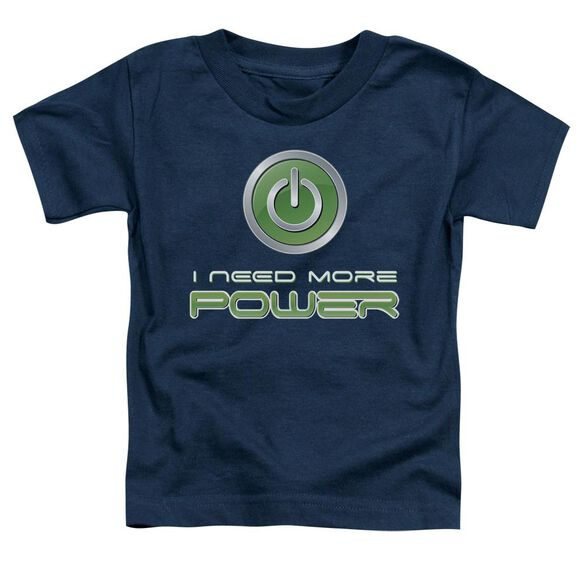 More Power Short Sleeve Toddler Tee Navy T-Shirt