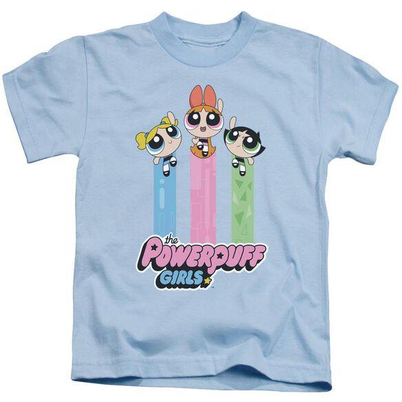 Powerpuff Girls The Girls Fly Short Sleeve Juvenile Light T-Shirt
