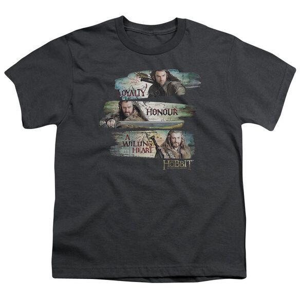 The Hobbit Loyalty And Honour Short Sleeve Youth T-Shirt