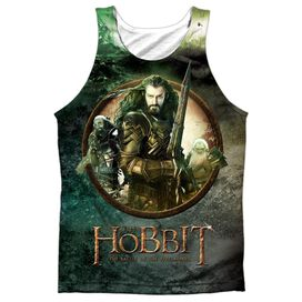 Hobbit Dwarves Vs Azog Adult 100% Poly Tank Top