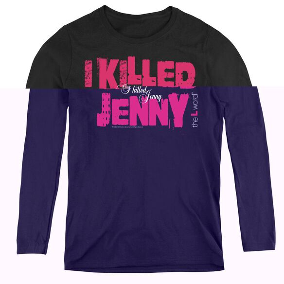 The L Word I Killed Jenny - Womens Long Sleeve Tee - Black