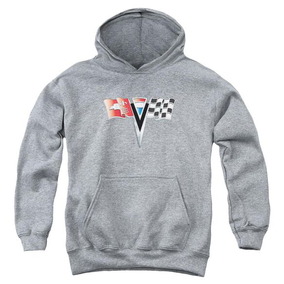 Chevrolet 2 Nd Gen Vette Nose Emblem Youth Pull Over Hoodie Athletic