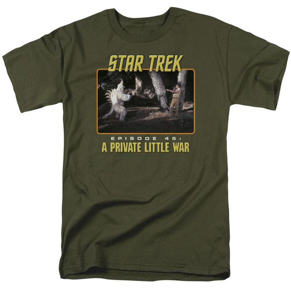 St Original Episode 45 Short Sleeve Adult Military Green T-Shirt