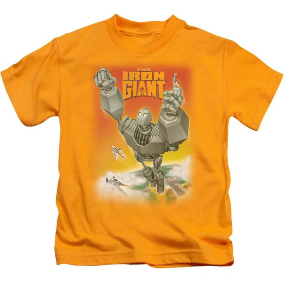 Iron Giant Fly Away Short Sleeve Juvenile Gold T-Shirt