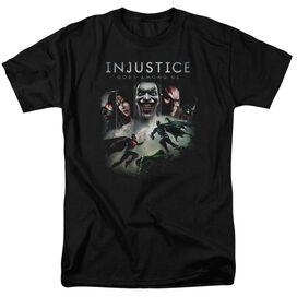Injustice Gods Among Us Key Art Short Sleeve Adult T-Shirt