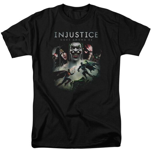 Injustice Gods Among Us Key Art Short Sleeve Adult T-Shirt