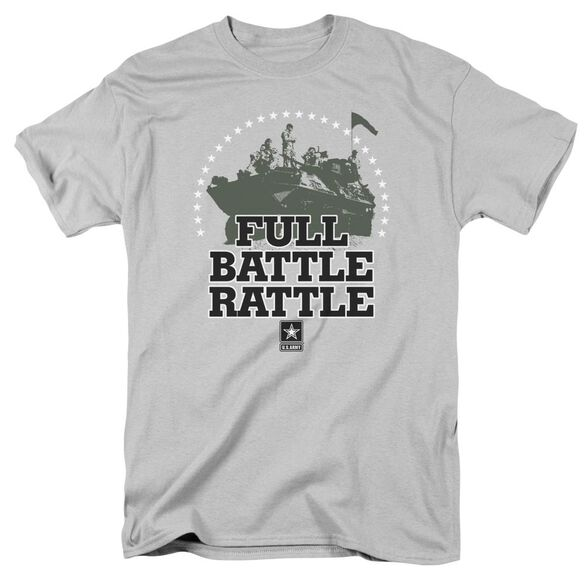 Army Full Battle Rattle Short Sleeve Adult Silver T-Shirt