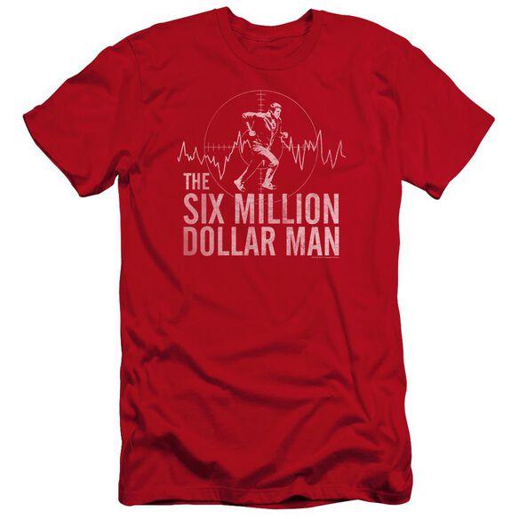 Six Million Dollar Man Target Premuim Canvas Adult Slim Fit