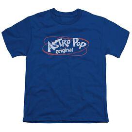 Astro Pop Vintage Logo Short Sleeve Youth Royal T-Shirt